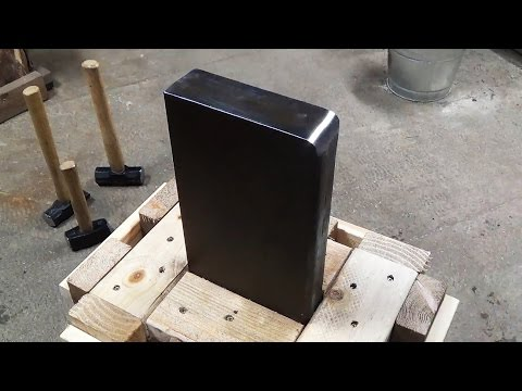 How to Make a 100 Pound Scrap Steel Post Anvil and Stand for Blacksmithing and Knife Making