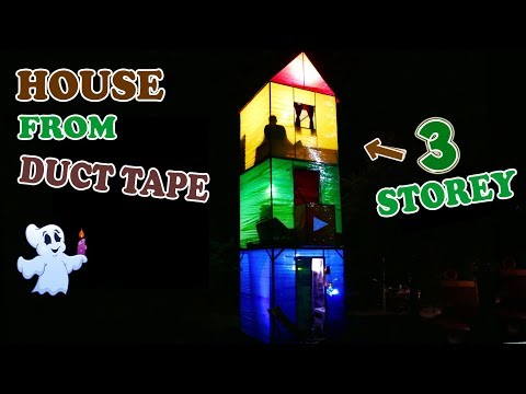 3-STOREY HOUSE FROM DUCT TAPE - DIY