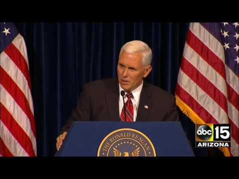NOSE WHISTLE. Gov. Mike Pence at President Reagan Library in Simi Valley, CA