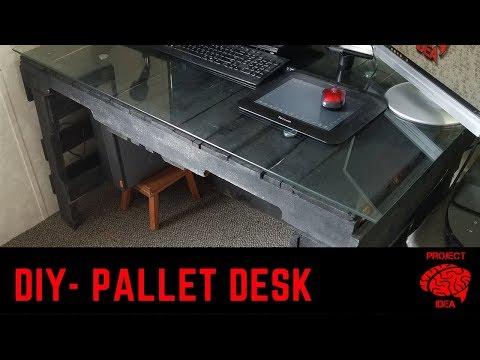 Easy DIY pallet desk build