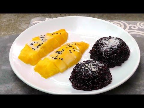Thai Mango black Sticky Rice - Vegan Vegetarian Recipe