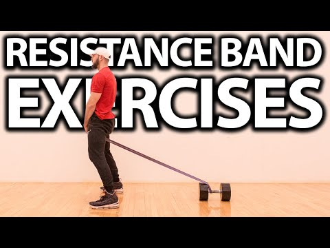 Top 5 Exercises to Increase Your Vertical Jump Using RESISTANCE BANDS!