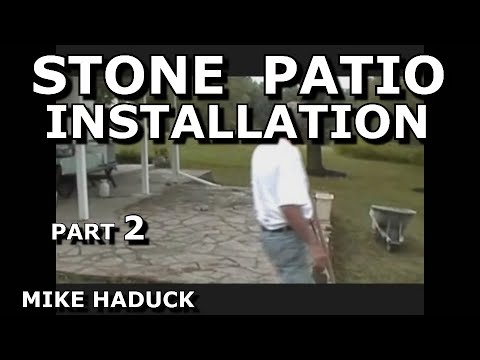 How I install a stone patio (Part 2 of 4) Mike Haduck shows patch -up etc.