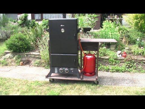 Portable Gas Smoker Cart DIY, how to Video TheGermanSausageMaker