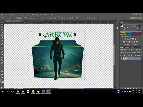 How To Create Folder Icon - Windows - Photoshop CC - Tutorial HD - Using Template