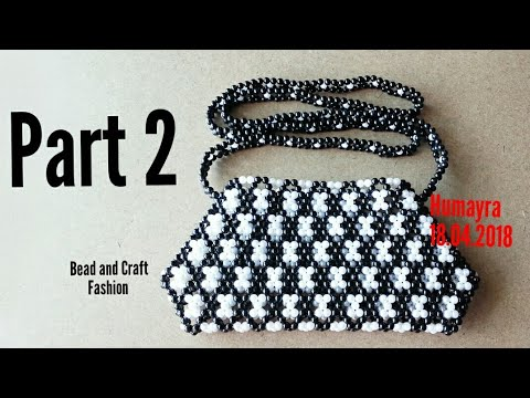 How to make Beaded Bag || Purse || Pouch || Crystal Bag || Clutch || Part 2