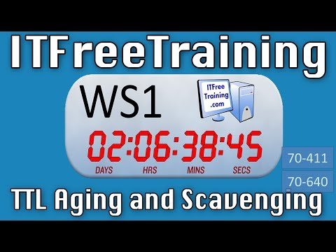 DNS Time to live, aging and scavenging
