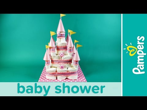 Princess Baby Shower: How to Make a Castle Diaper Cake | Pampers