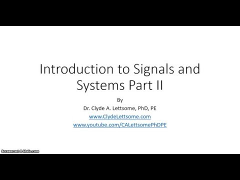 Introduction to Signals and Systems Part II