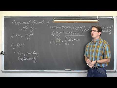 Solving Compound Interest Problems PLEASE READ DESCRIPTION:)