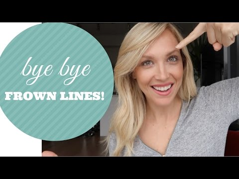 HOW TO GET RID OF FROWN LINES QUICK AND EASY NATURALLY!