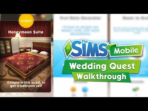The Sims Mobile: The Wedding Quest Walkthrough / Honeymoon Suite Overview