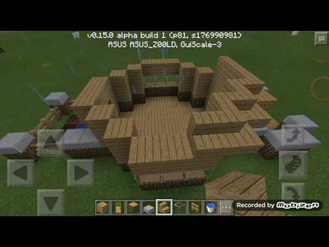 Minecraft PE - How to build a simple all in one room house