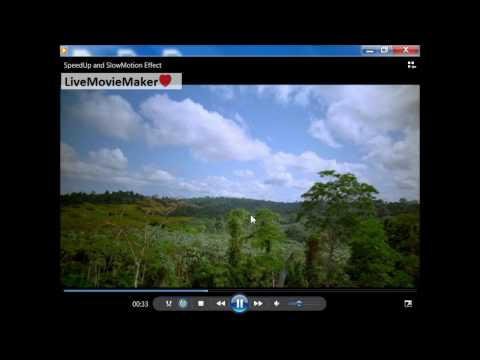 Windows Live Movie Maker Tutorial #2: Video Speed up and Slow Motion Effects