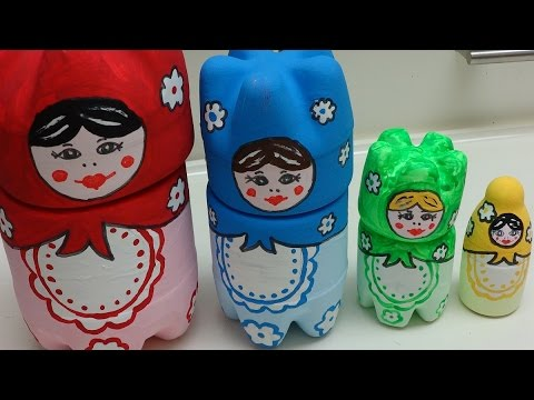 Recycled Craft Ideas: DIY Russian Doll Matryoshka from Plastic Bottles | Recycled Bottles Crafts