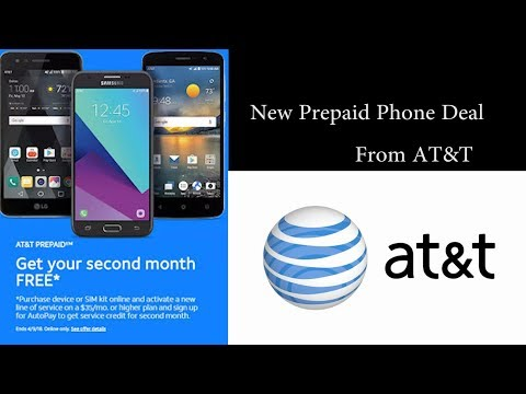 Get A Free Phone and Second Month of Service from AT&T Prepaid (New Customers)