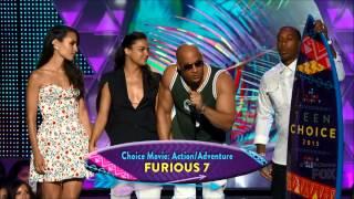 Furious7 & PaulWalker win at 2015 TCA's - VinDiesel, MichelleRodriguez, Ludacris, JordanaBrewster
