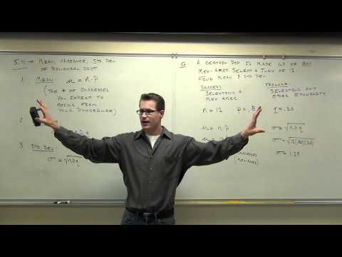 Statistics Lecture 5.4: Finding Mean and Standard Deviation of a Binomial Probability Distribution