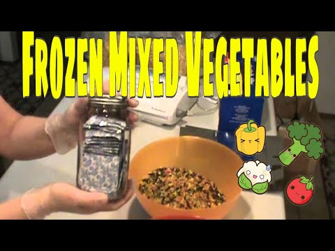 DEHYDRATING: Frozen Mixed Vegetables also how to store for LONG TERM! Prepper