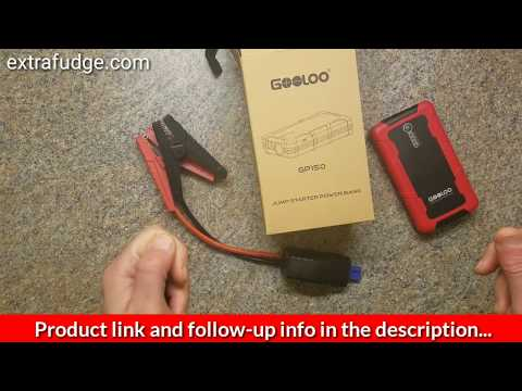 Review of the GOOLOO 600A Peak 15000mAh Car Jump Starter