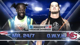 Madden 18 Tournament Rd. 1: KOFI KINGSTON vs. BARON CORBIN - Gamer Gauntlet
