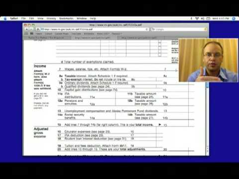 1040A Federal Income Tax Form for 2012, 2013