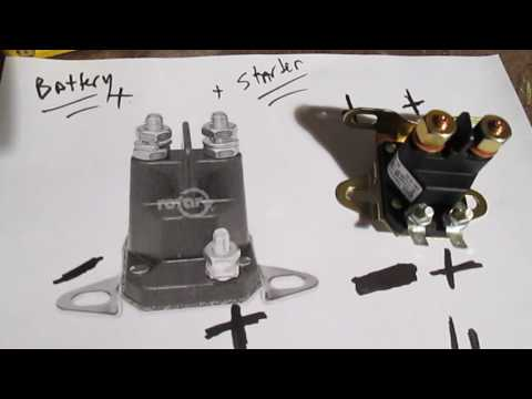 Easy Test Solenoid Riding Lawn Mower Tractor No Start - By Pass Starter - Diagram - How it Works