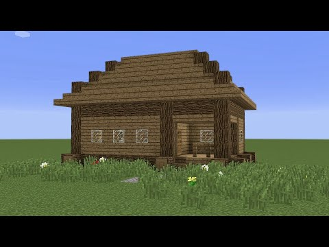 Minecraft - How to build a small wooden house 2
