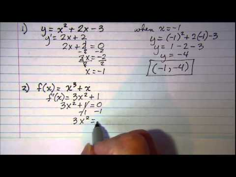 Determining the point where graph has a horizontal tangent line