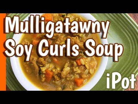 Mulligatawny Soy Curls Soup for Two in the Instant Pot