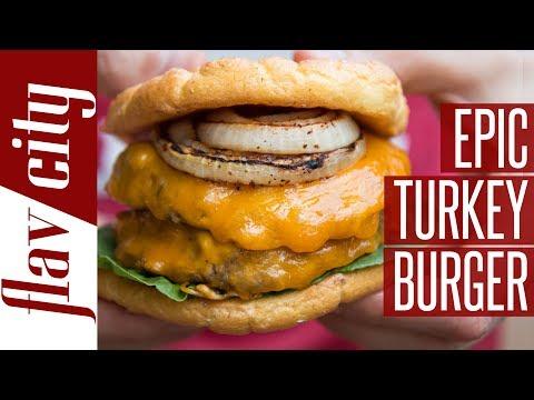 Epic Low Calorie Turkey Burger With Cloud Bread Bun