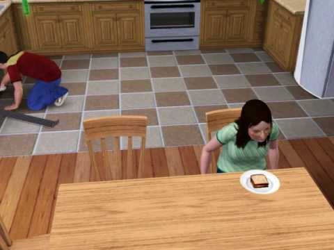 Sims 3 The joy of eating your favorite food