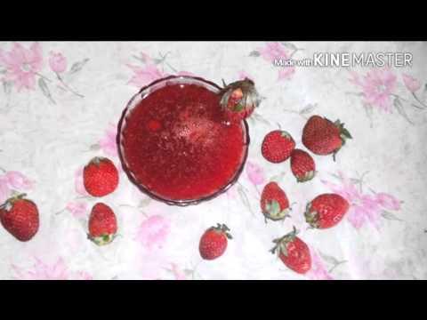 Homemade strawberry crush