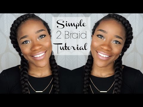 How To: Two Braids Tutorial On Naturally Curly Hair