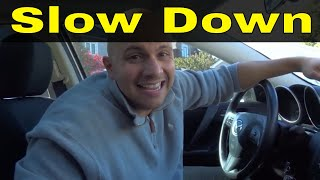How To Slow Down When Turning-Driving Lesson For Beginners