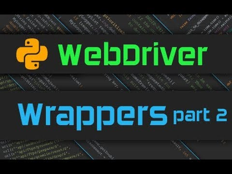 Advanced Webdriver - Wrapper for UI Objects