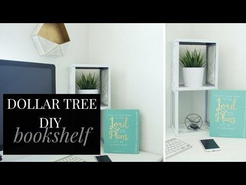 DOLLAR TREE DIY Bookshelf | Best DIY Bookshelf under $20 Room Decor Project