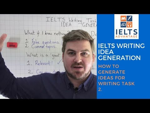 IELTS Writing Idea Generation