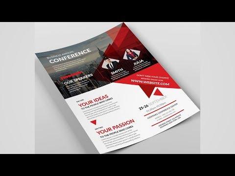 Best Flyer Design Tutorial in Photoshop | Leaflet Design