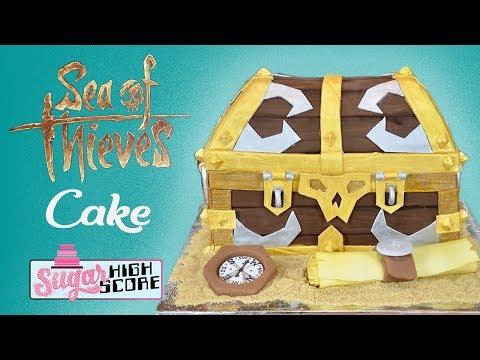 Sea of Thieves TREASURE CHEST CAKE tutorial
