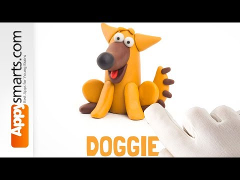 Funny Clay Dog from Hey Clay Animals - tutorial for kids (iPad/iPhone/Android)