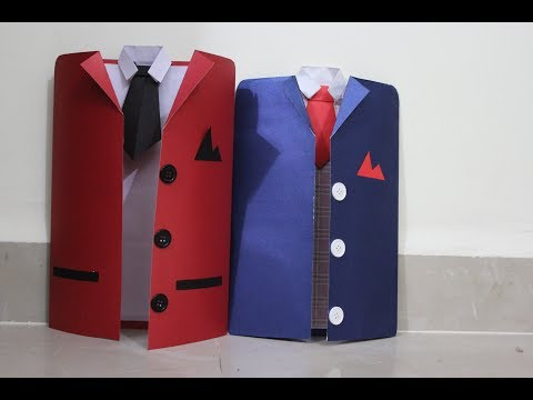 DIY suit - Tuxedo greeting card Tutorial   How to make greeting card