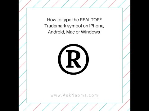 How to type REALTOR® trademark symbol on iPhone, Android, Mac or Windows