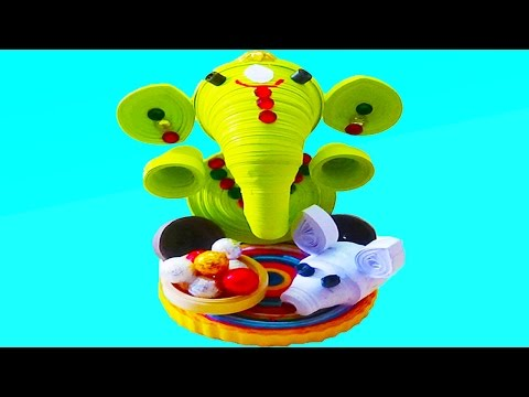 Paper Quilling:make beautiful lord Ganesha 2016
