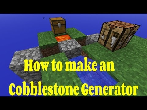 Minecraft Xbox - How To Make An Easy Cobblestone Generator Tutorial