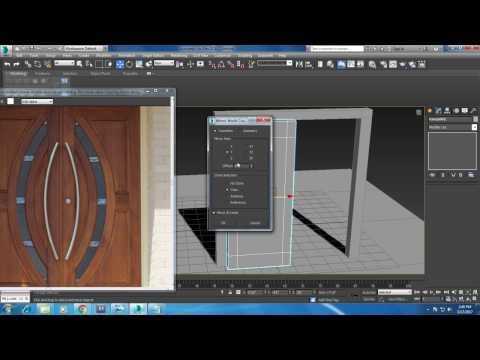 Tutorial on Modeling a main door in 3dsmax.