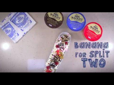 Mackie's Ice Cream  - Banana Split for Two Recipe