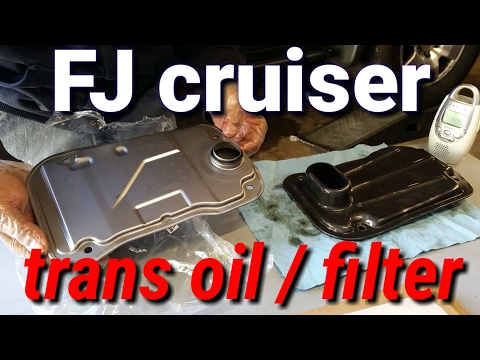 Toyota fj cruiser transmission fluid and  filter change