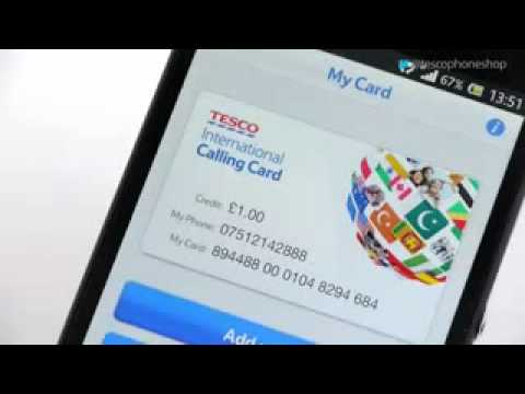 How to use the Tesco International Calling Card app