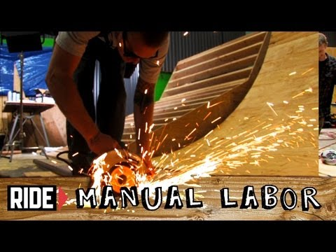 How-To Build a Skatepark - Quarter Pipe Part 6: Cutting Coping - Manual Labor